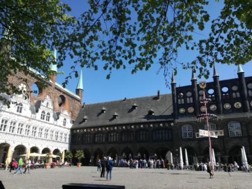 Hansestdadt Lübeck Rathausmarkt