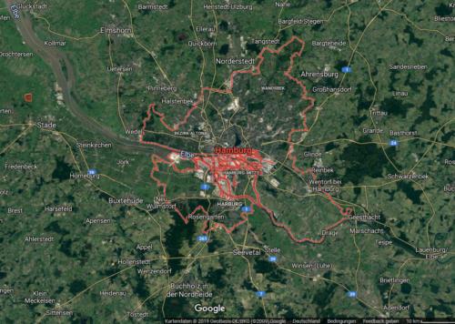 Hamburgo - Vista aerea